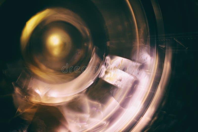 Płodozmienny koło Płodozmienny mechanizm, fotografujący na długim ujawnieniu fotografia royalty free