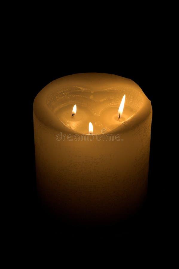 płomień świecy 3 zdjęcia stock
