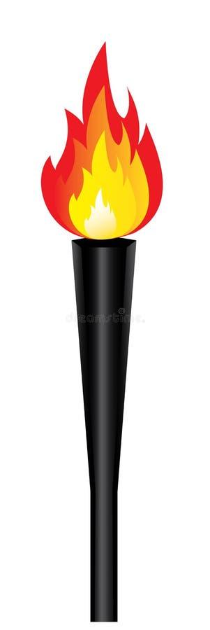 płomień odizolowywający olimpijski pochodni wektor ilustracja wektor
