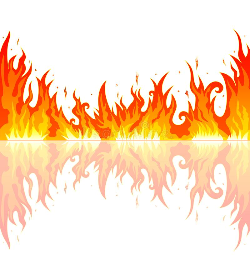 Płomień ogień ilustracja wektor