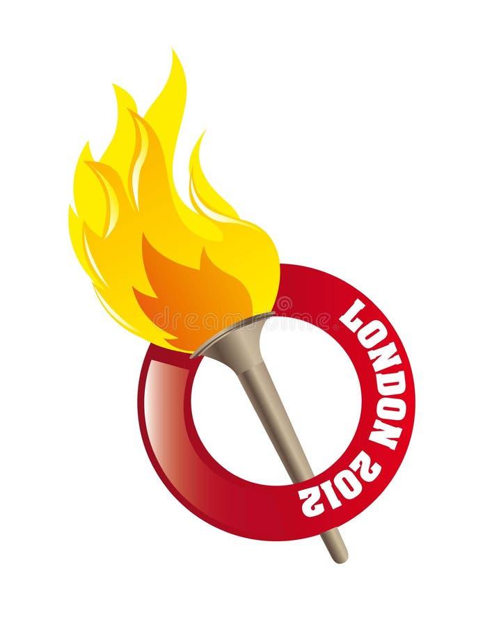 płomień olimpijski royalty ilustracja
