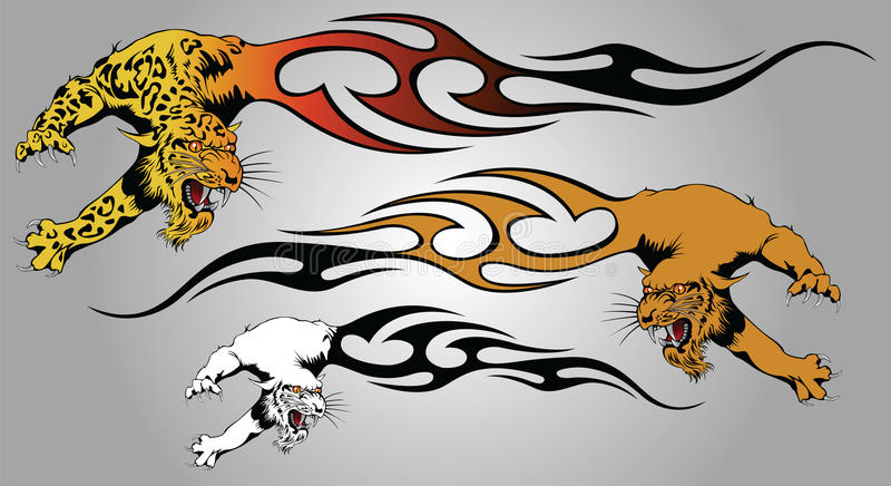 płomień pantera royalty ilustracja