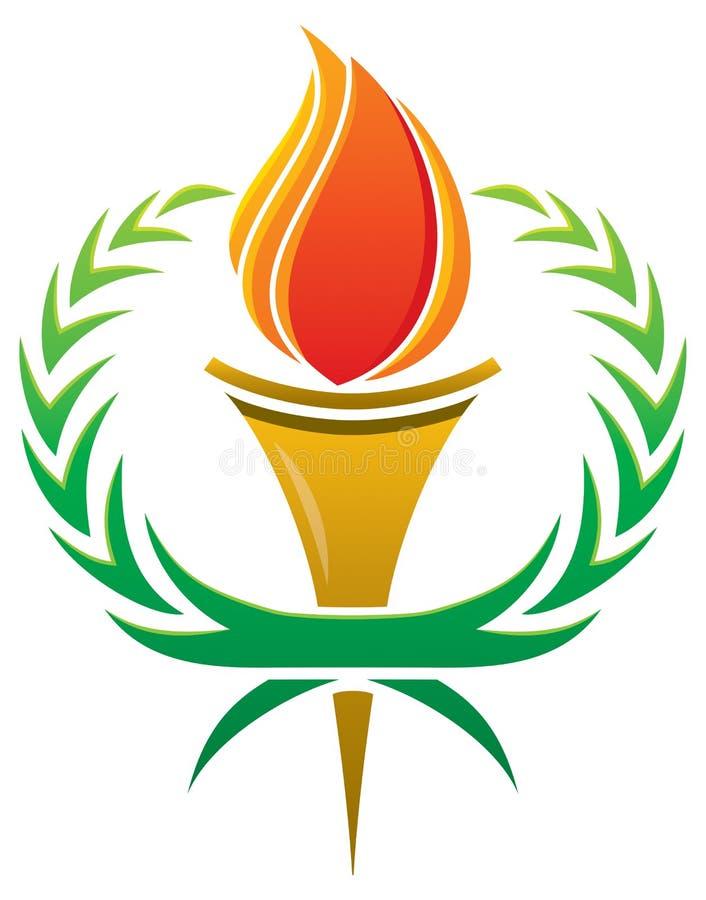 Płomień pochodni logo royalty ilustracja