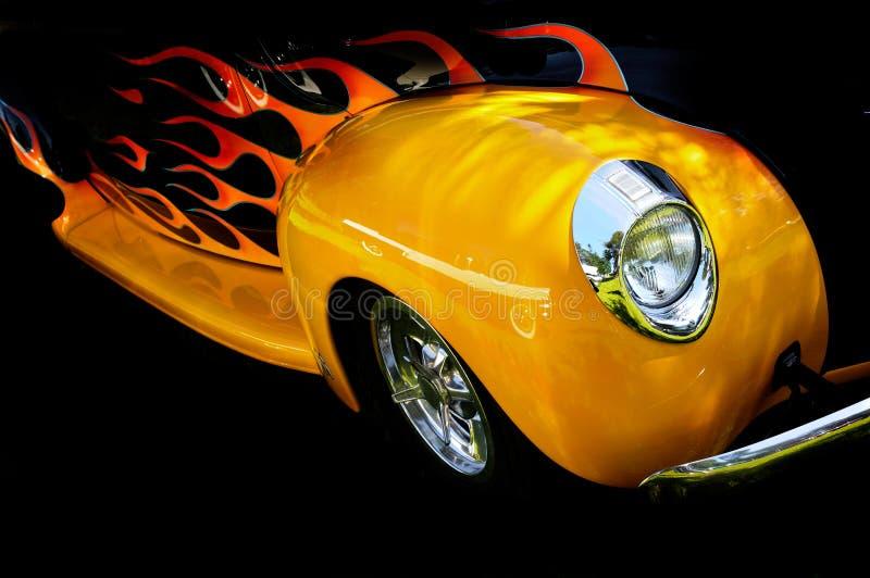 płomień samochodowy obraz stock