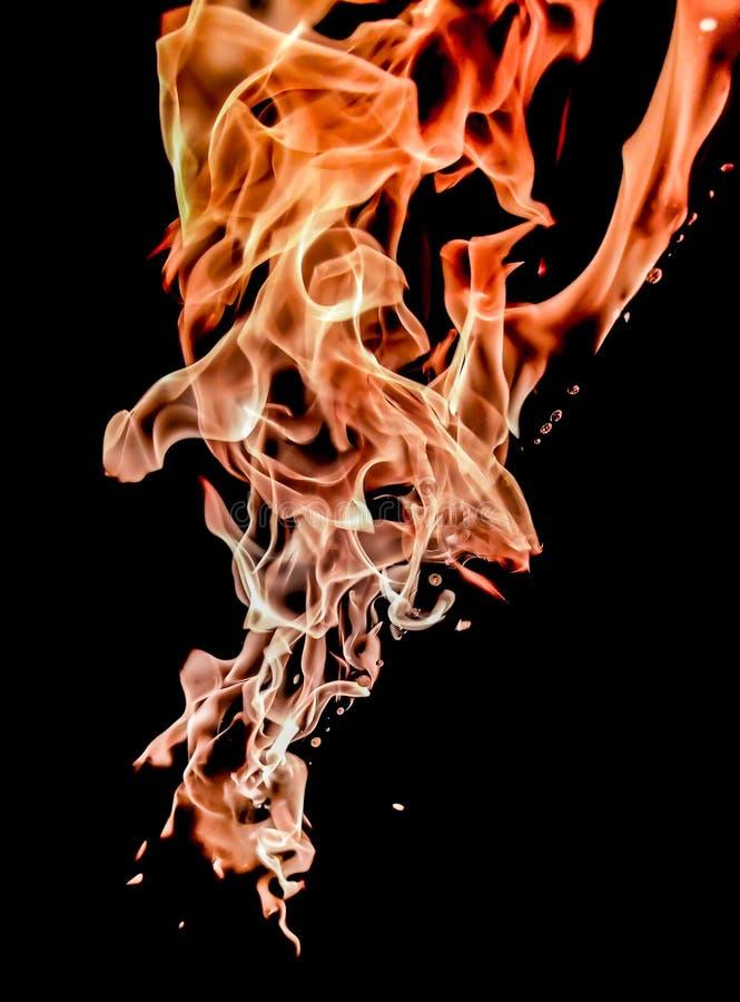 Płomień w ruchu zdjęcia stock