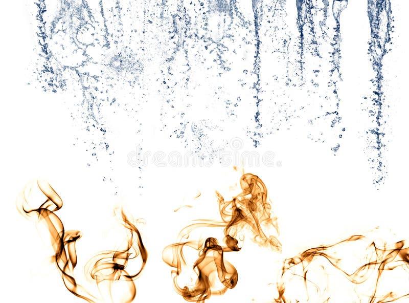 płomieni pluśnięć woda royalty ilustracja