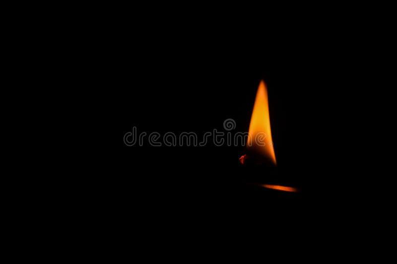 Płomienia czasu ogień jadł noc obraz stock