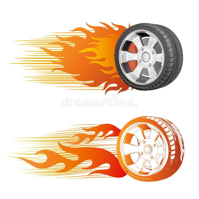 płomienia koło ilustracja wektor