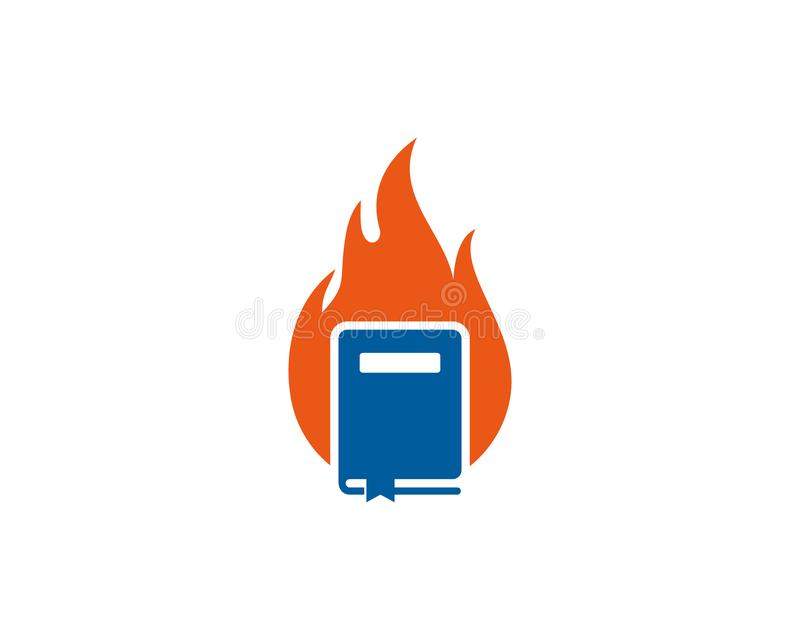Płomienia loga ikony Książkowy projekt royalty ilustracja
