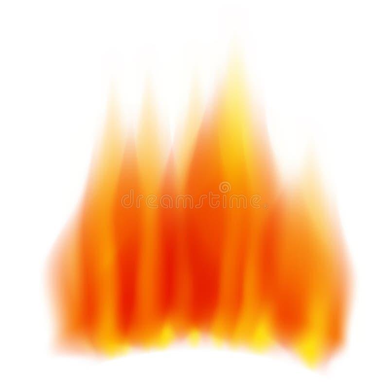 Płomienia ogień ilustracja wektor