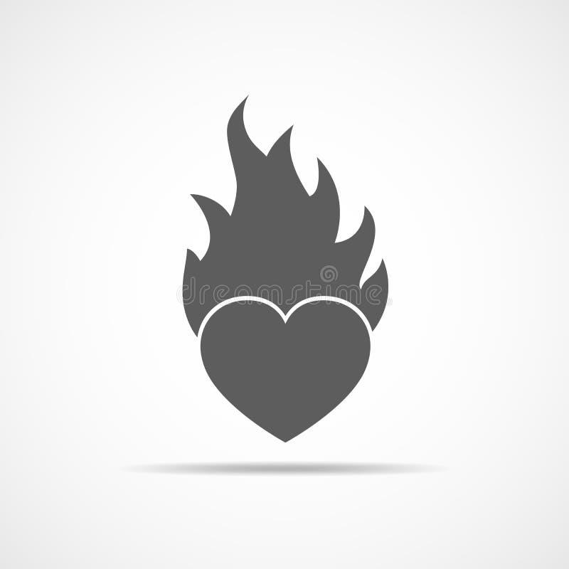 płomienia serce również zwrócić corel ilustracji wektora ilustracja wektor