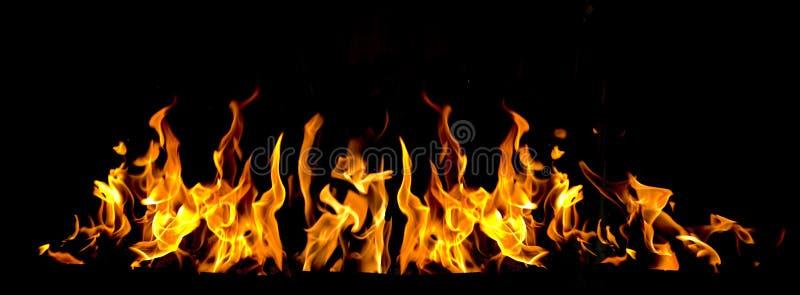 płomienie ognia fotografia stock