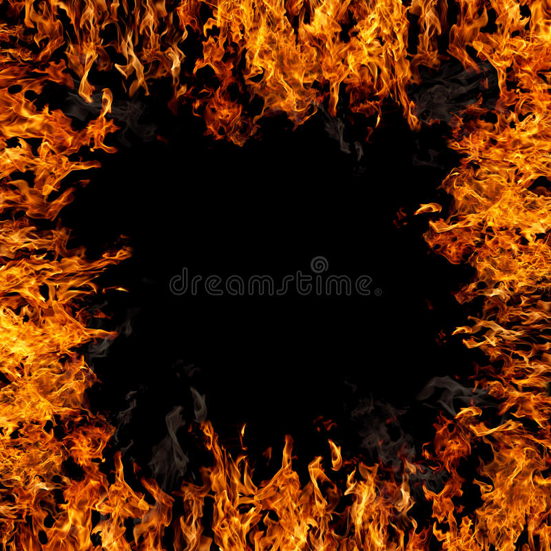 Płomienna granica obraz stock