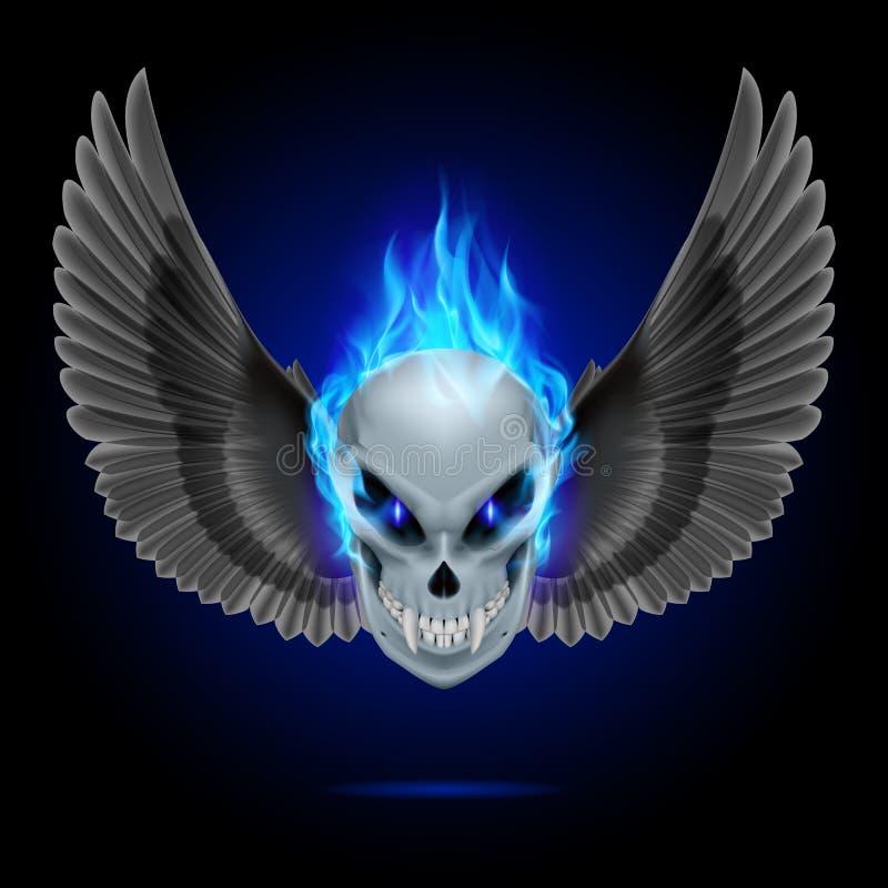 Płomienna mutant czaszka ilustracji