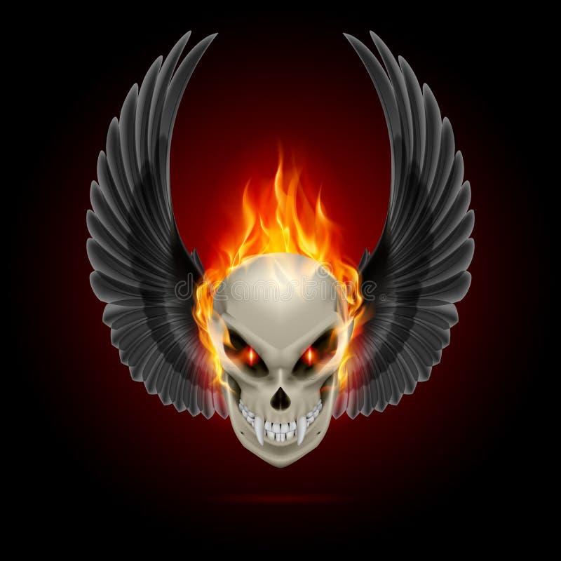 Płomienna mutant czaszka royalty ilustracja