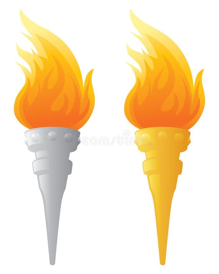 Płomienna pochodnia royalty ilustracja