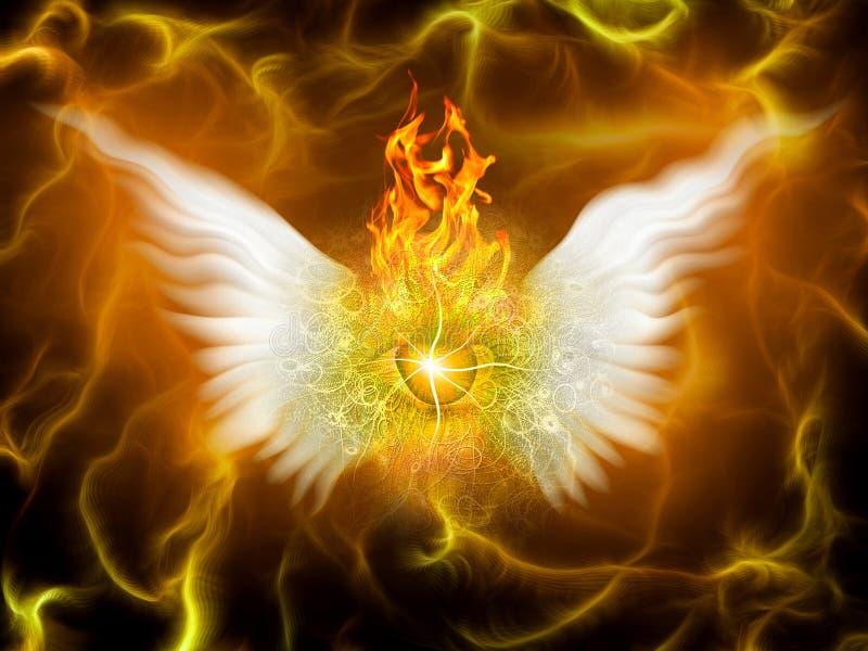 Płomienny bóg royalty ilustracja