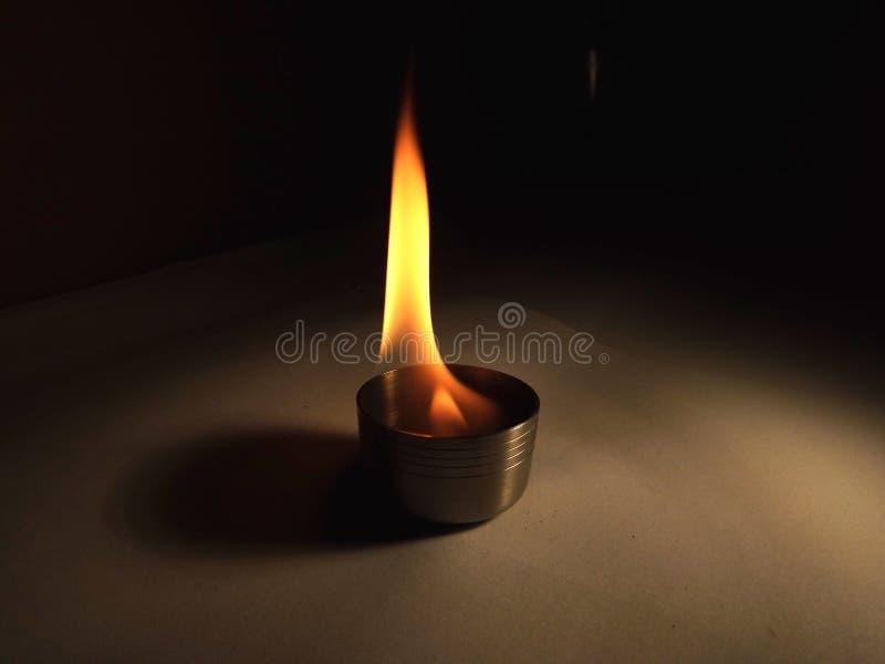 Płomienny chalice fotografia stock