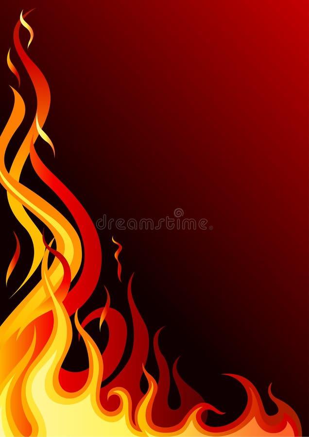 Płomienny ogień ilustracji