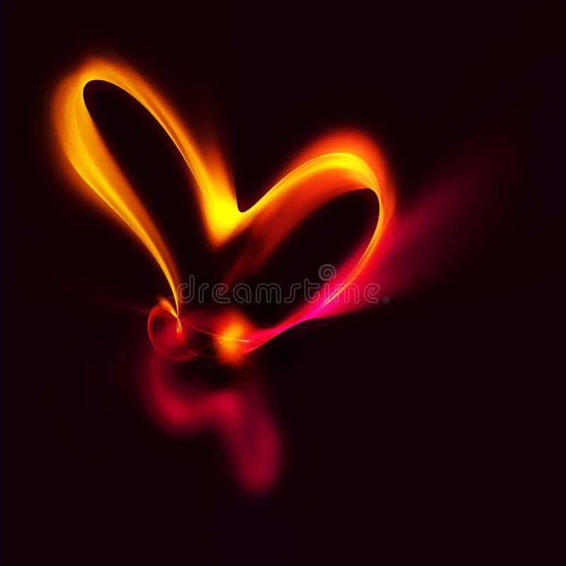 Płonąć serce ilustracji