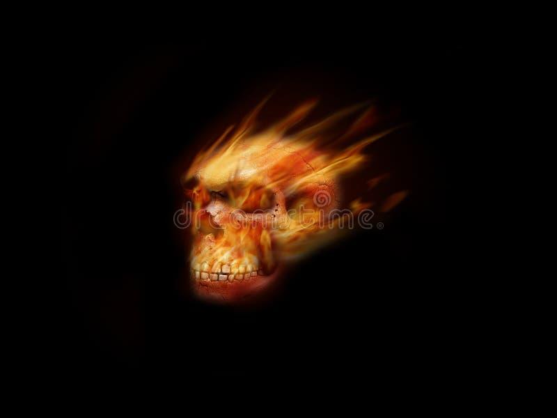 płonąca czaszka ilustracja wektor