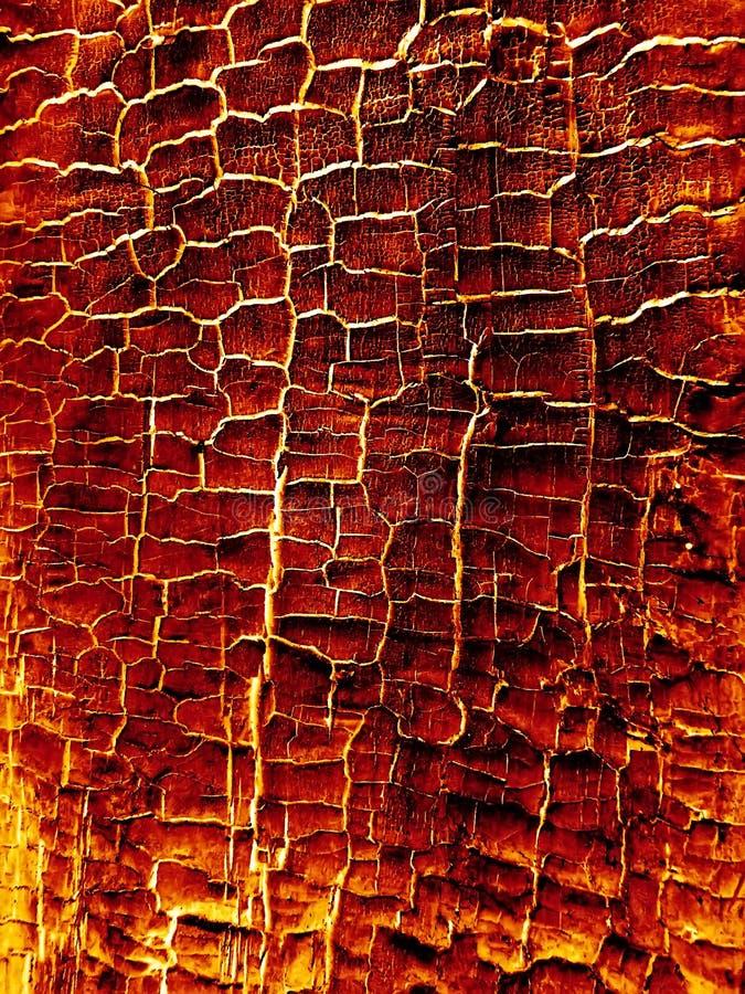 Płonąca gorąca drewniana tekstura fotografia royalty free