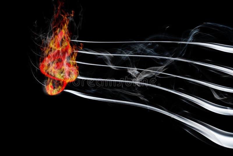 płonąca muzyka obraz royalty free