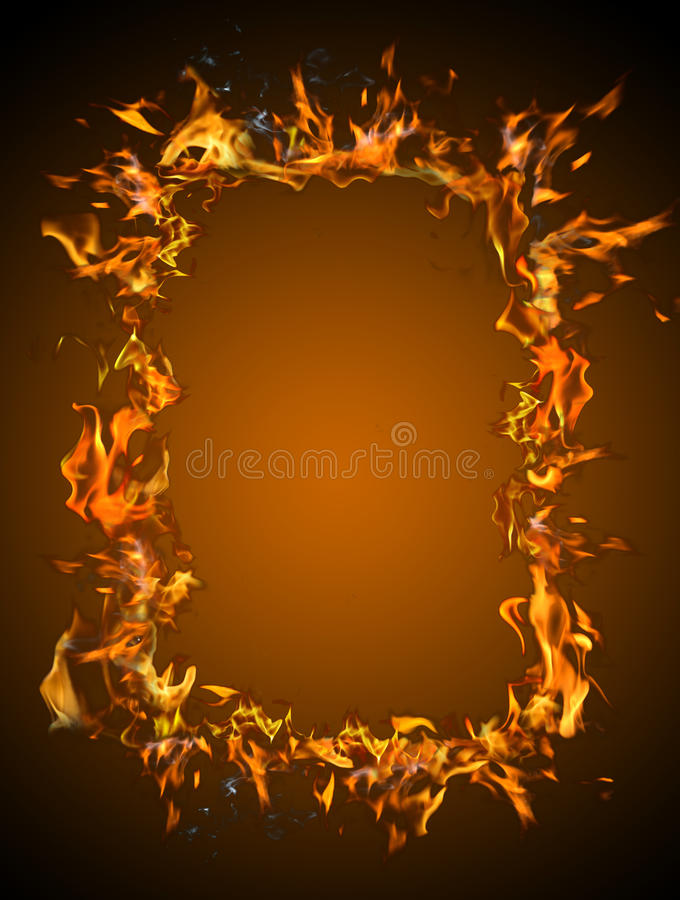 płonąca rama fotografia stock