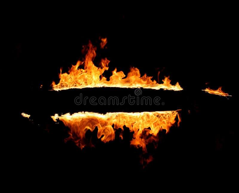 płonąca rama obraz stock