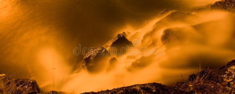płonąca woda fotografia stock