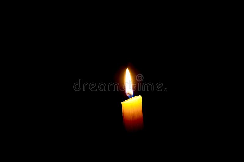 Płonąca wosk świeczka obrazy stock