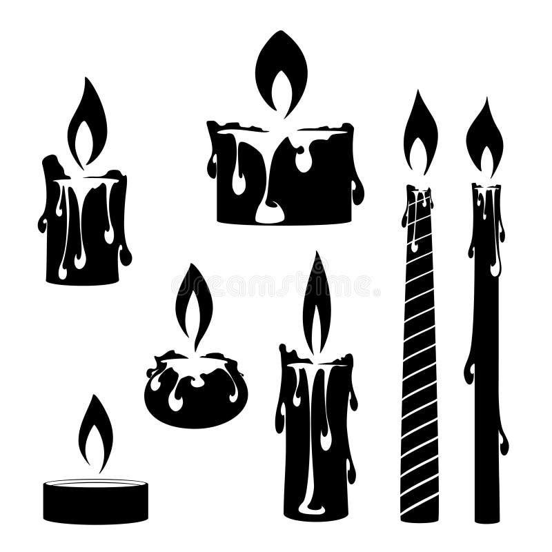 płonące świece ilustracja wektor