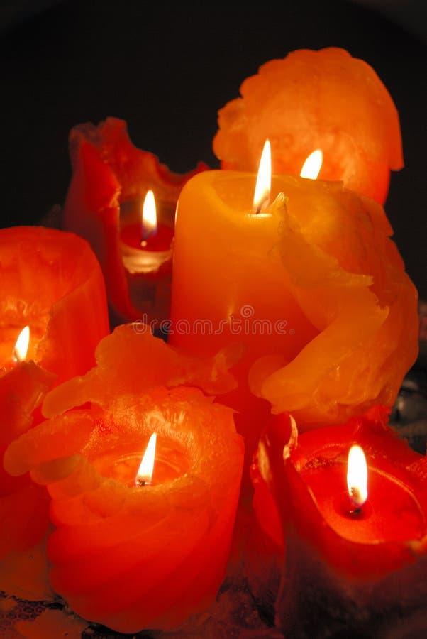 płonące świeczki fotografia stock