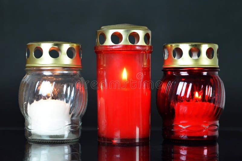 Płonące doniosłe świeczki zdjęcia royalty free