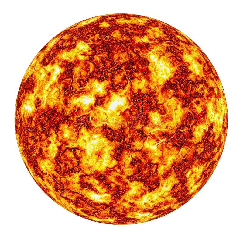 płonące słońce royalty ilustracja