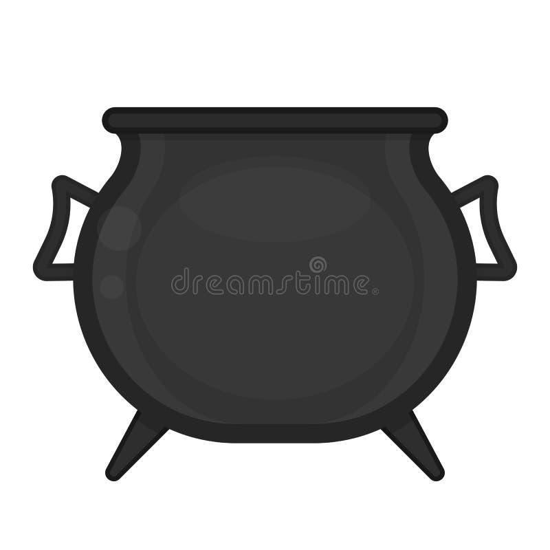 płonącego kotła kadzidła odosobniony modlitewny biel ilustracja wektor