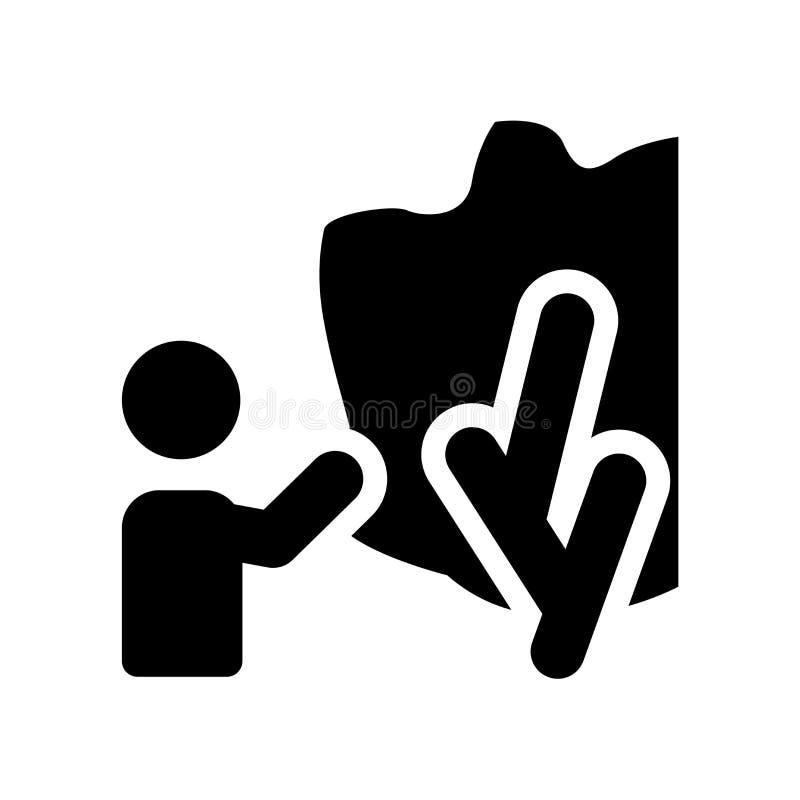 Płonącego krzaka ikona  ilustracji