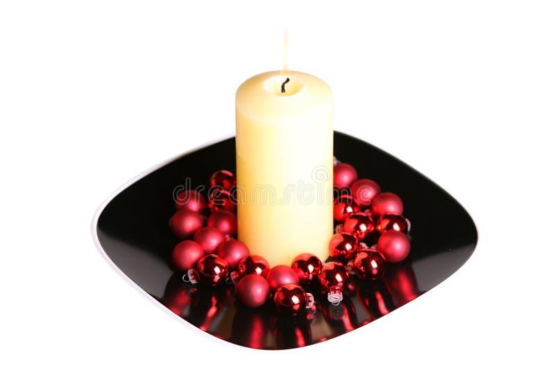 płonącej świeczki wielki biel fotografia royalty free