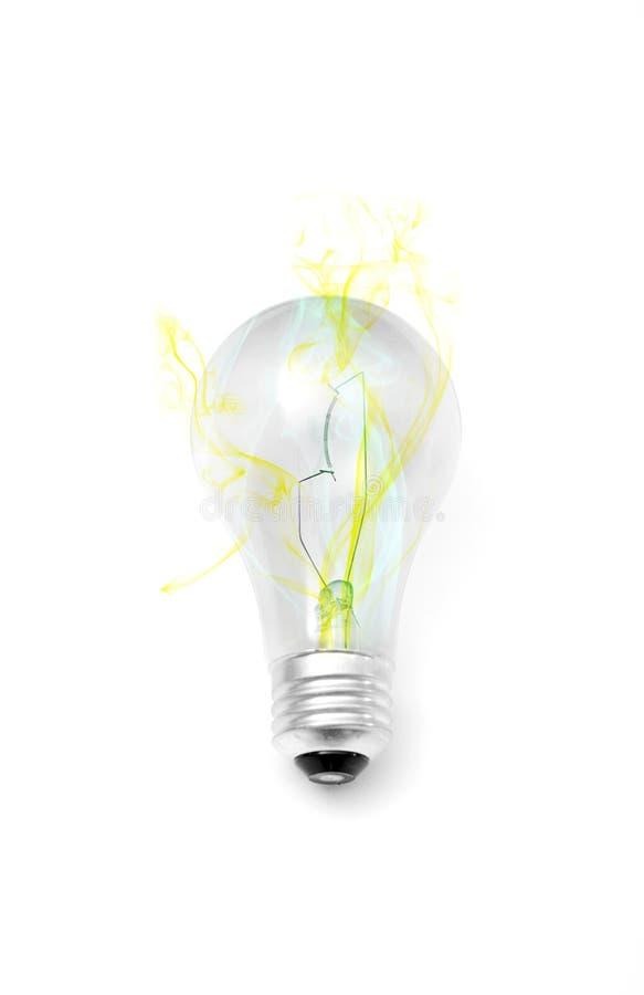 płonący żarówki światło zdjęcia royalty free