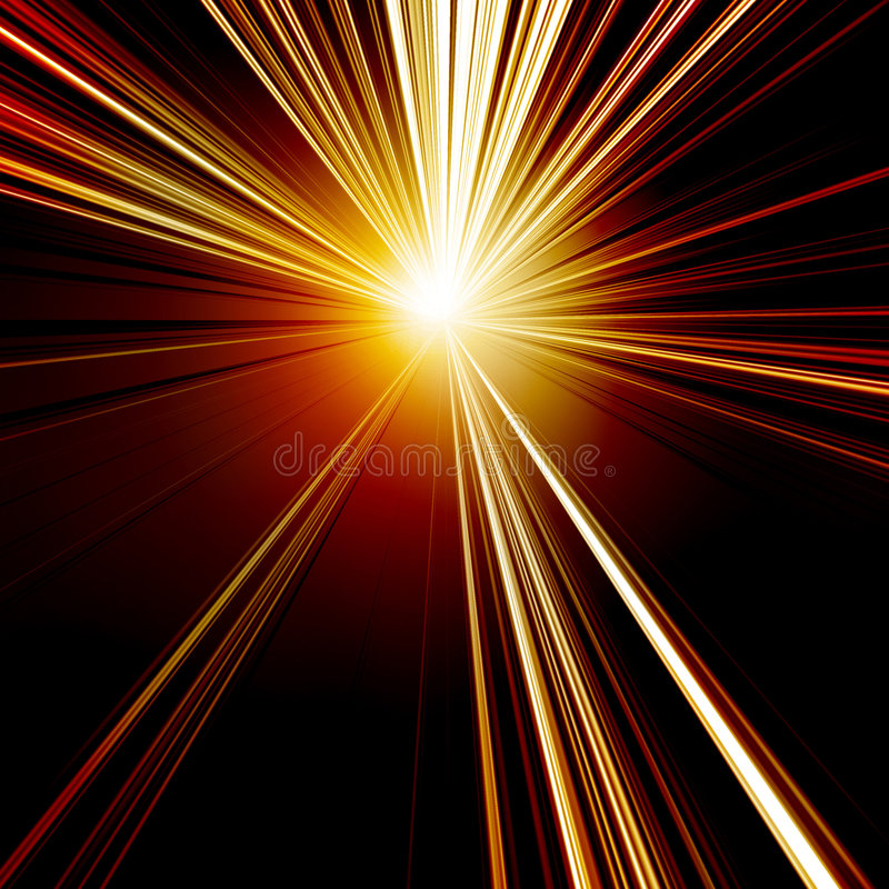 Płonący czerwony abstrakcjonistyczny słońce ilustracji