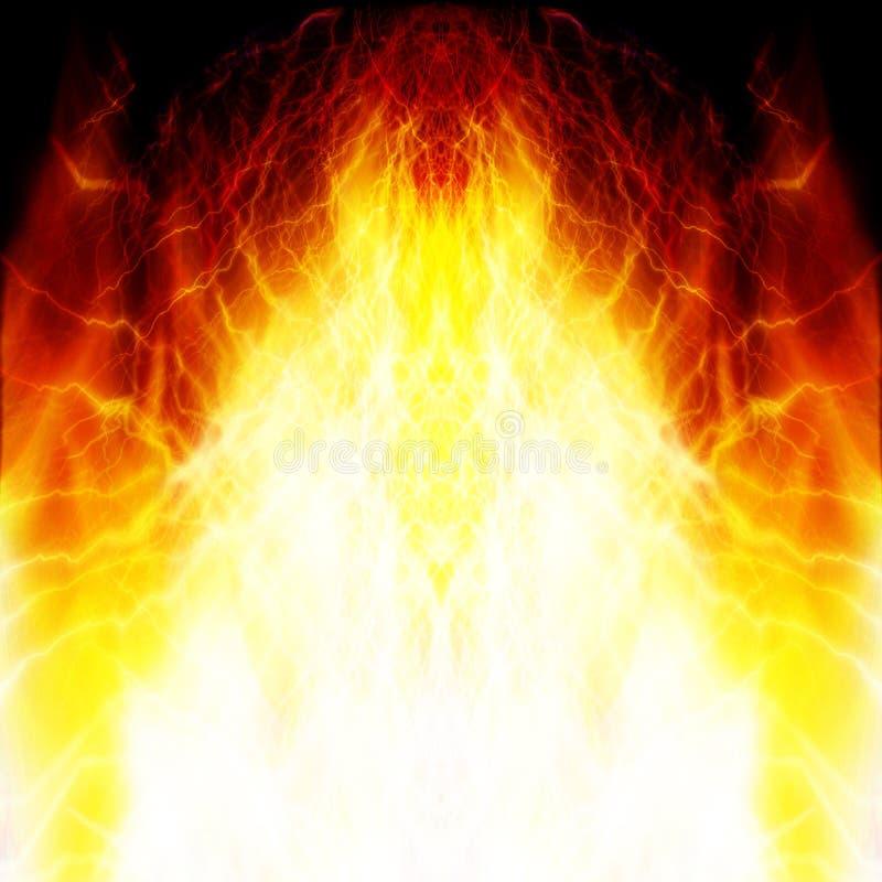 Płonący czerwony płomień ilustracja wektor