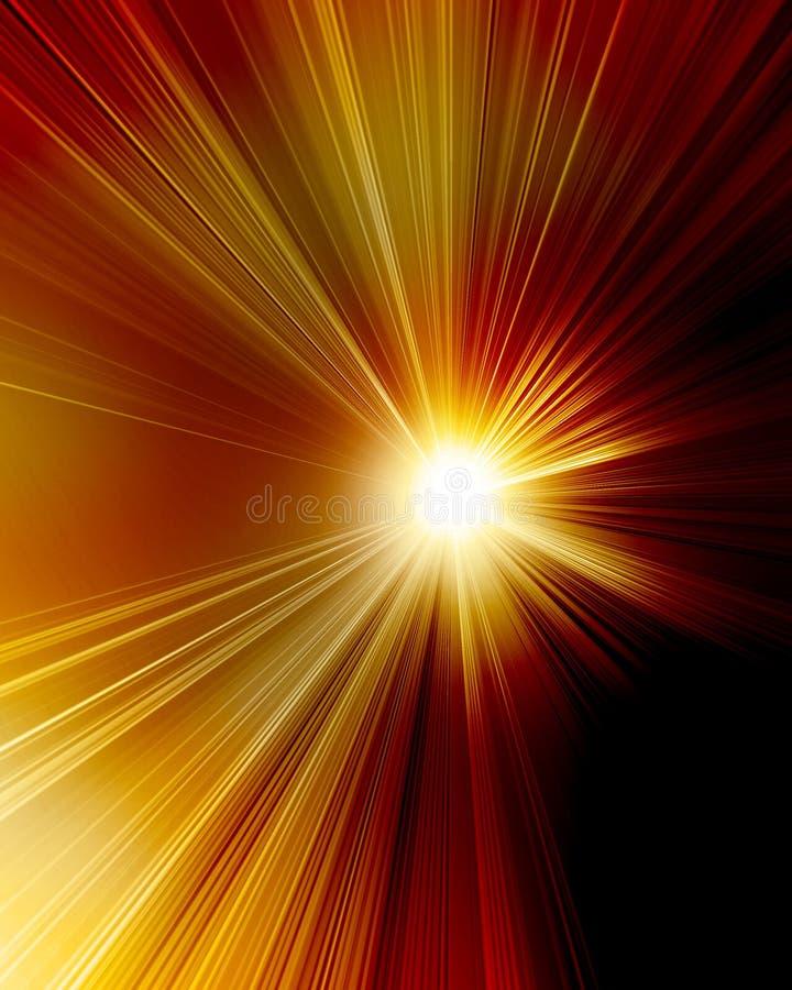 Płonący czerwony słońce royalty ilustracja
