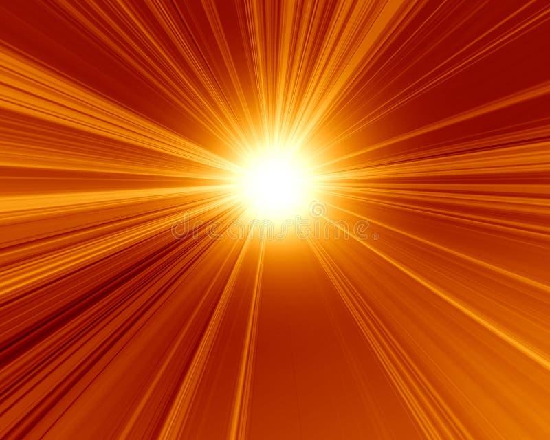 Płonący czerwony słońce ilustracja wektor