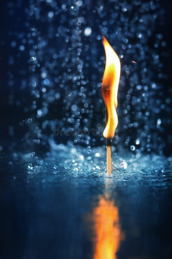 Płonący dopasowanie w wodzie obrazy royalty free