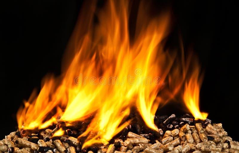 Płonący drewniany wyrko zdjęcia stock