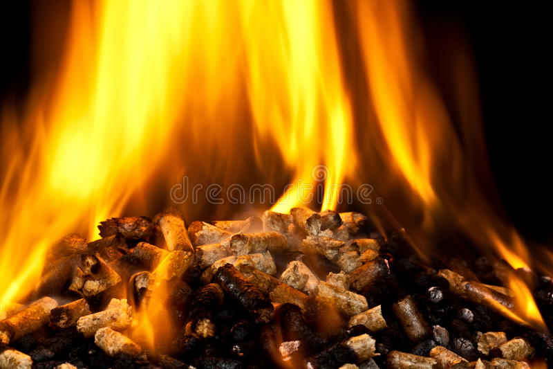 Płonący drewniany wyrko fotografia stock
