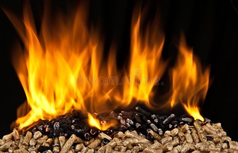 Płonący drewniany wyrko obrazy royalty free