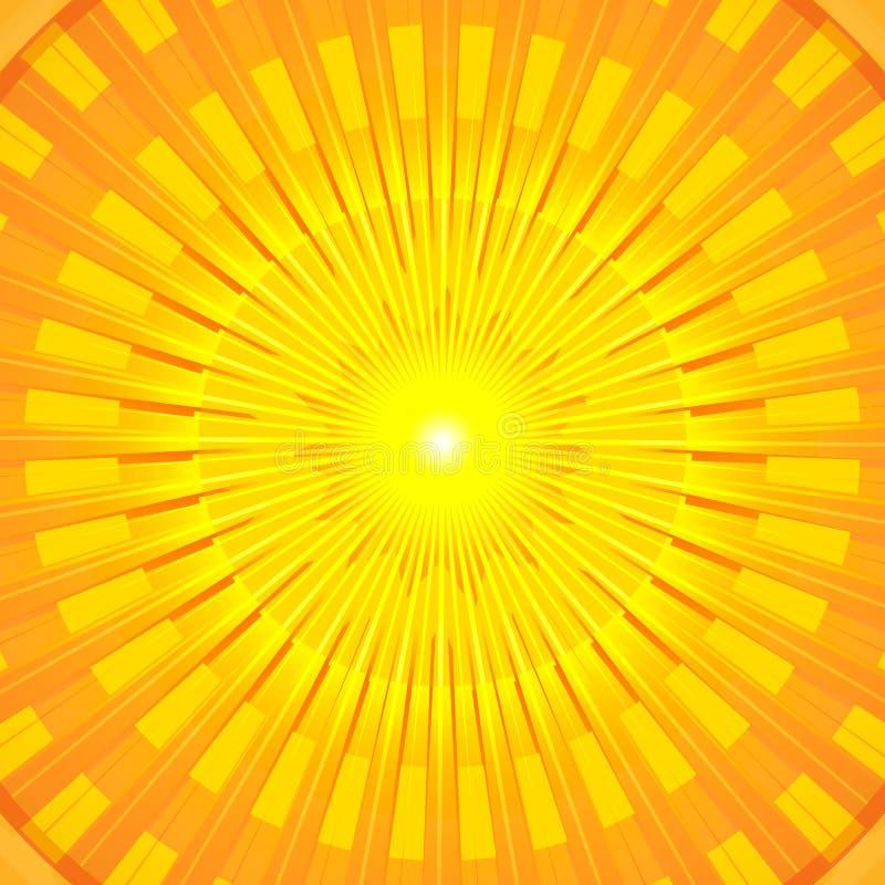 Płonący Gorący Lato Słońca Mandala ilustracja wektor