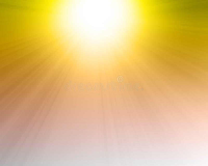 Płonący gorący słońce ilustracji