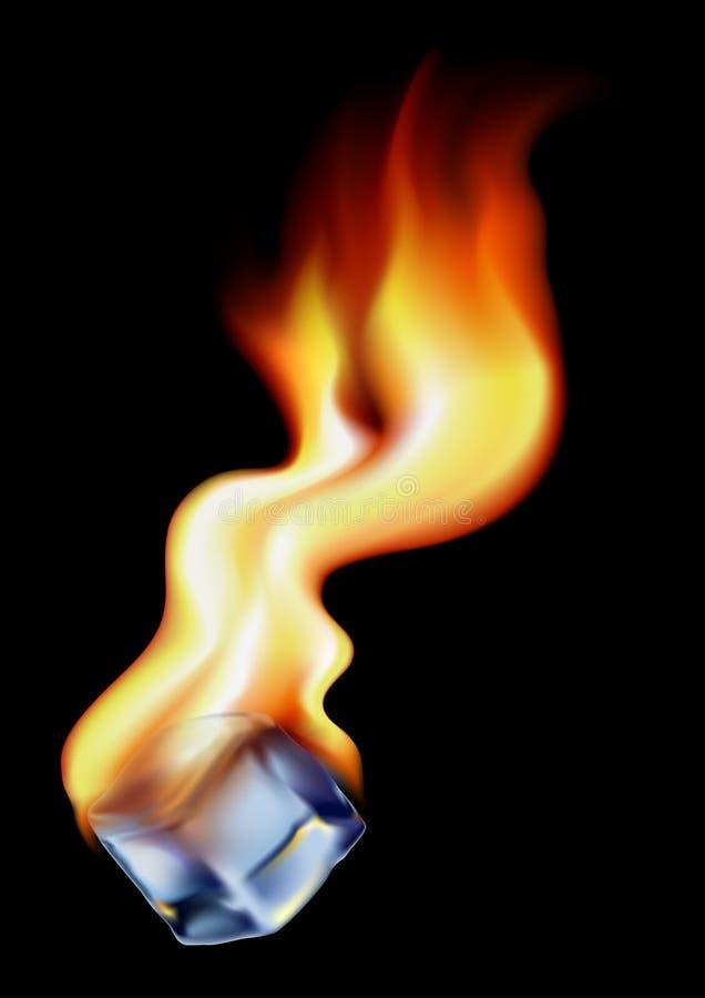płonący lodu ilustracja wektor